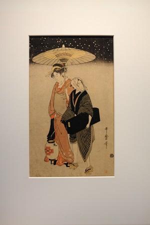 2014.02.07 東京国立博物館 雪中芸者と箱屋 喜多川歌麿 1806