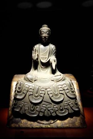 2014.02.07 東京国立博物館 如来坐像 飛鳥時代 法隆寺献納宝物 N-145