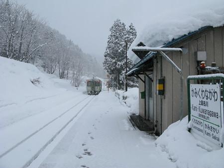 2008.02.05 長野 上桑名川駅は雪の中