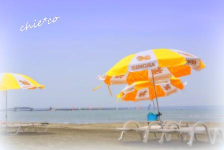 夏のビーチ・・1