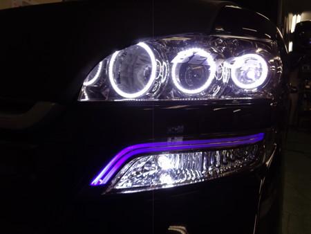 N-BOX 岐阜県 イカリング取付 ウインカー2色LEDホワイト