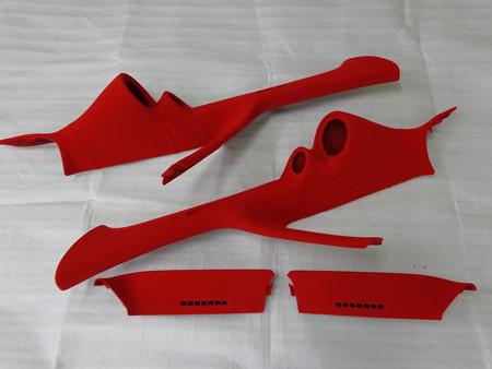 オデッセイRA6 赤 フロッキーコーティング