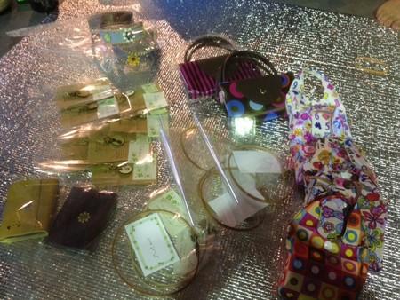 Mさん作成革製チョ-カー、カードケース&エコバッグ