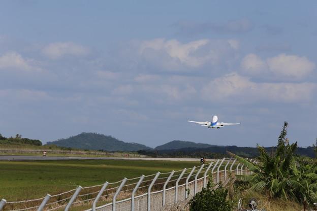 石垣空港にて