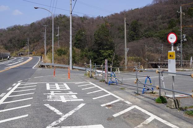 清山バス停前