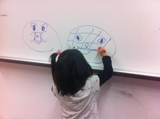 2月3日お絵かきお父さん~アンパンマン (6)