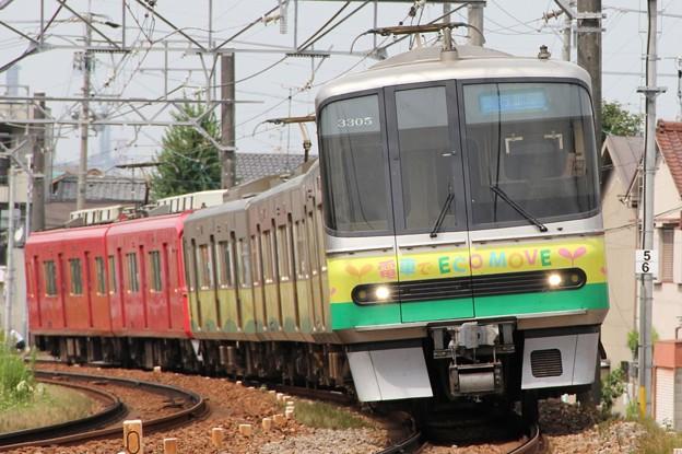 名鉄3300系3305F 2013エコムーブ
