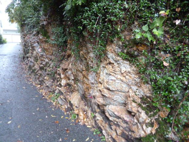 マグマの流れ模様が見える岩石