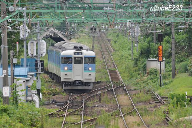 二本木駅スイッチバック 【349M 115系ナノN29編成】