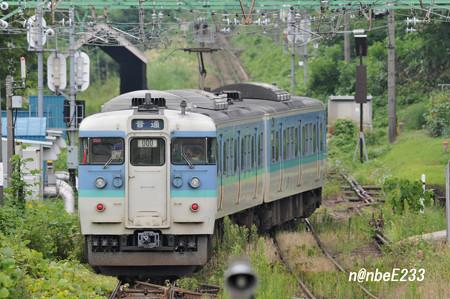 二本木駅スイッチバック 【350M 115系ナノN22編成】