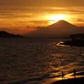 Photos: 夕暮れの富士山120909
