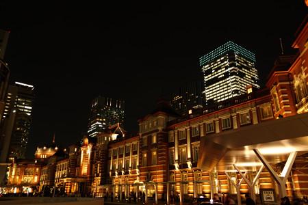 復刻東京駅ライトアップ121005b