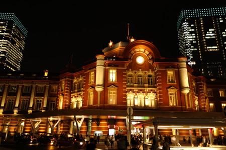 復刻東京駅ライトアップ121005c