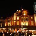 Photos: 復元された東京駅赤レンガ駅舎のライトアップ121005c