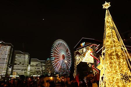 クリスマスライトアップ、ワールドポーターズ!2012