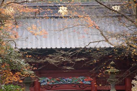 冬紅葉が彩る二天門!