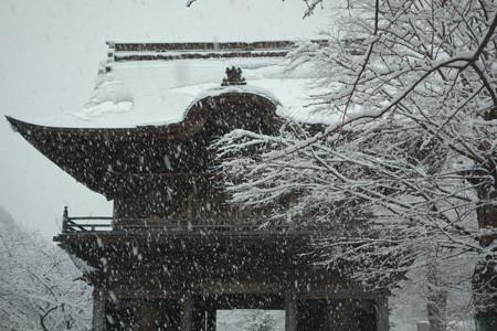 称名寺仁王門の雪景色!2013