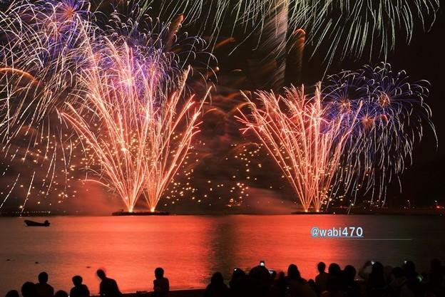 Photos: 海岸の花火大会、逗子2!130601