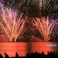 写真: 海岸の花火大会、逗子2!130601