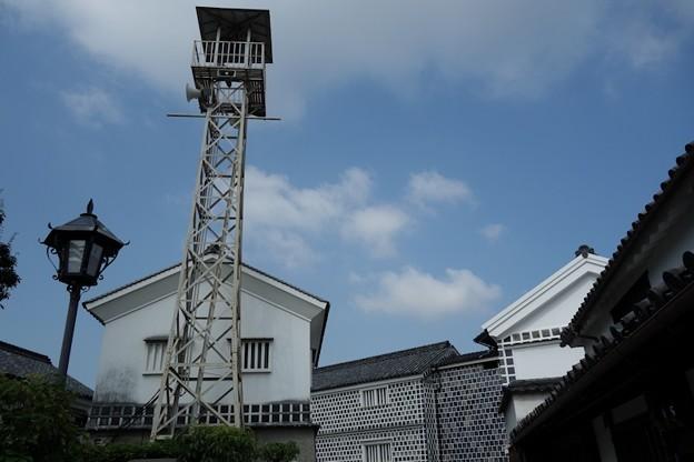 写真: 倉敷の火の見櫓!130806