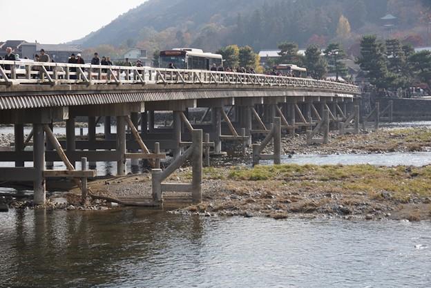 力強い渡月橋!131202
