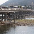 写真: 力強い渡月橋!131202