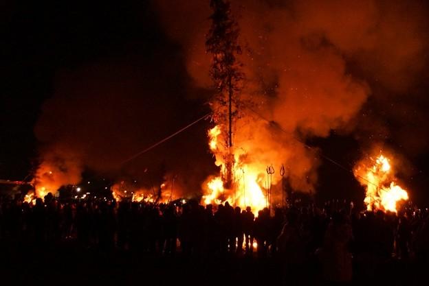 左義長火祭り2!140112