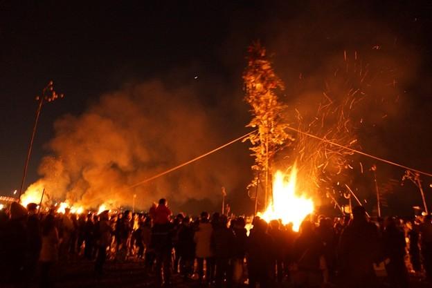 写真: 左義長火祭り3!140112
