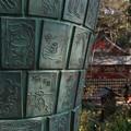 Photos: 絵筆塚と本堂!140118