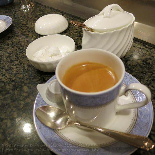 コーヒーとお口なおしのミント