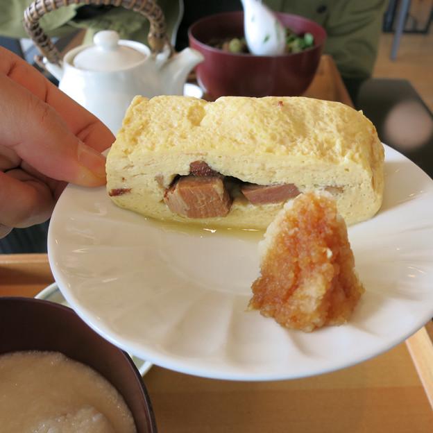 厚切りベーコンin厚焼き卵
