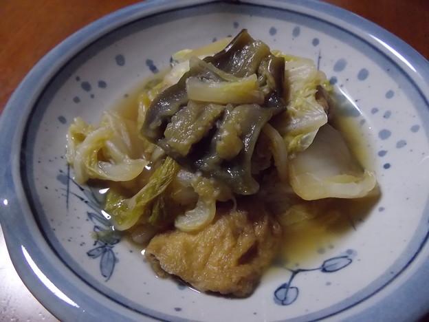 ナスと白菜と揚げの煮物
