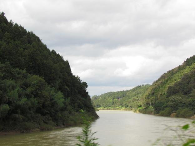 車窓から北上川