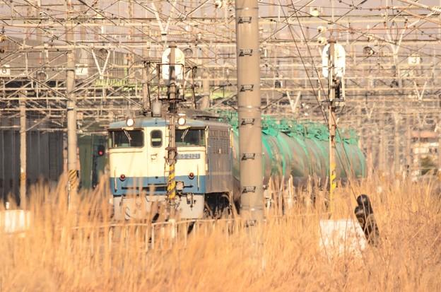 Photos: タキを従え発車待機中のEF65 2121号機(新) 原色青プレート♪