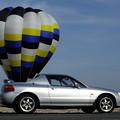 Photos: 気球の前で