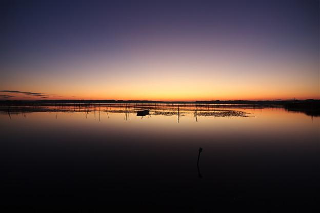 印旛沼の夜明け1