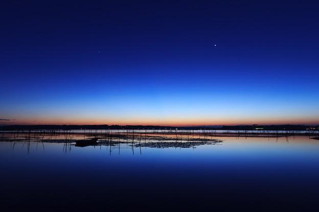 印旛沼の夜明け2