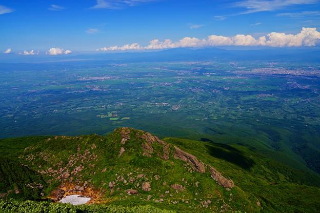 岩木山より津軽平野を望む