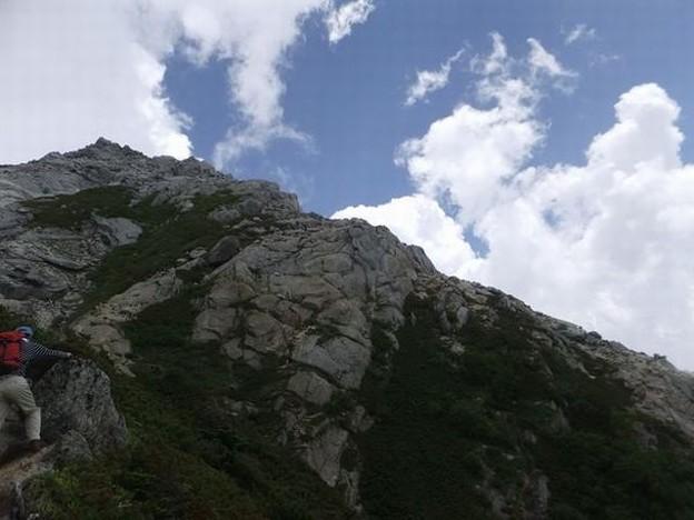 20130727甲斐駒登山5「ロッククライミング」640