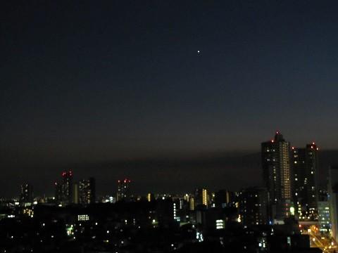 一番星(2013年9月27日18:13撮影、さいたま市浦和区にて)