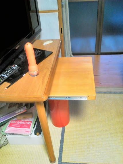 DIY 引き出しテーブル(パイン集成材18mm)