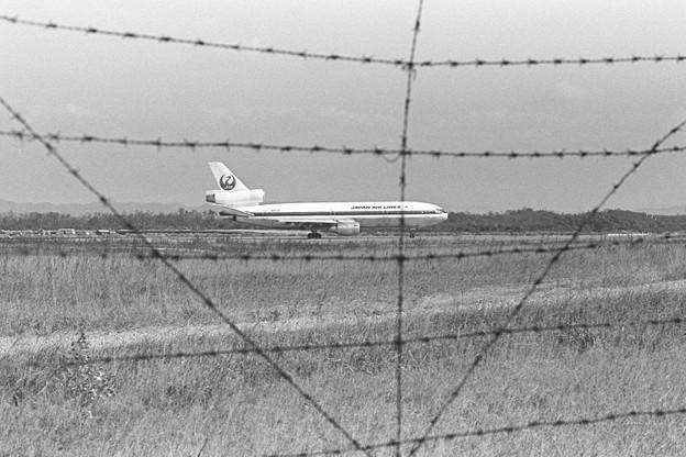CTSの空自側フェンス 1979.10