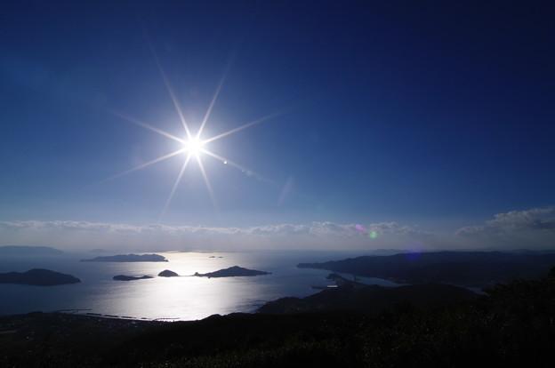 空と海の輝き