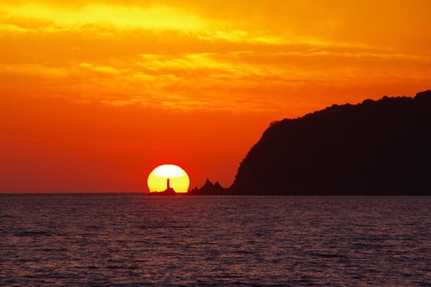 日振岬の日没