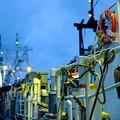 漁船の灯り