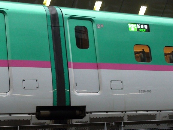E5 trainset, between cars