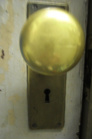 typical old-fashioned door knob