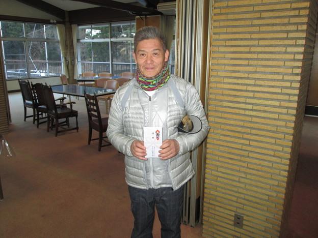 足利カントリークラブの佐野市長杯で見事優勝の矢作さん!!2014.1.19
