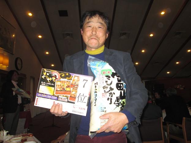 足利城ゴルフ倶楽部忘年コンペに参加した親さんは見事ラッキーセブン!!2013.12.12
