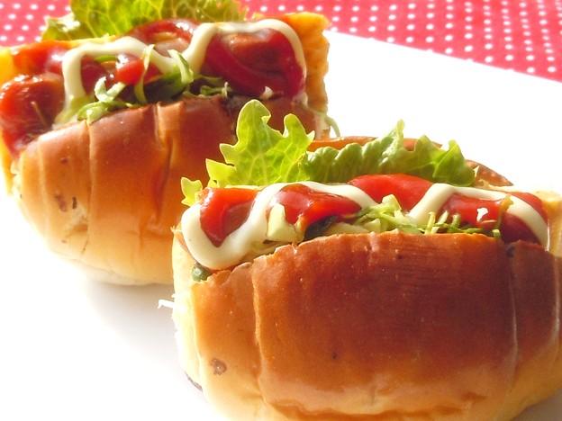 ☆朝の食卓にヘルシーで簡単 おいしいミニドッグ♪